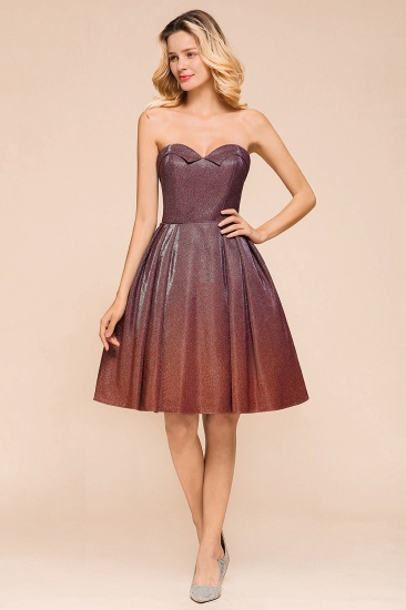 Ombre Sequins Sweetheart Short Prom Dresses Online_6