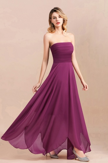 Gorgeous Strapless Ruffle Bridesmaid Dress with Petal Hemline_6