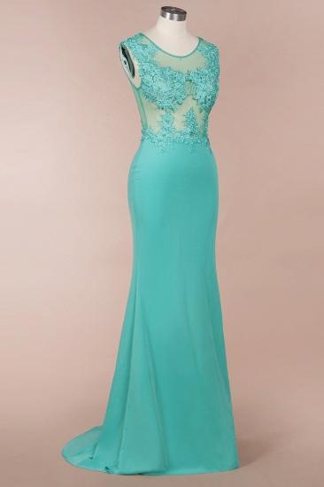 BMbridal Sexy mermaid Jewel Chiffon Lace Prom Dress Jewel Tulle Bridesmaid Dress_4