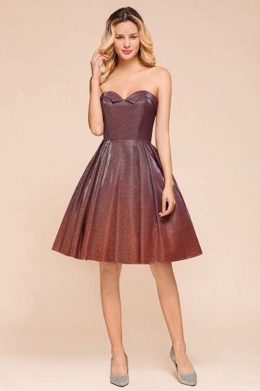 Ombre Sequins Sweetheart Short Prom Dresses Online_1