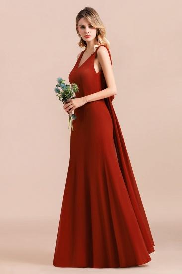 Charming Mermaid V-Neck Drapped Back Bridesmaid Dress Online_5