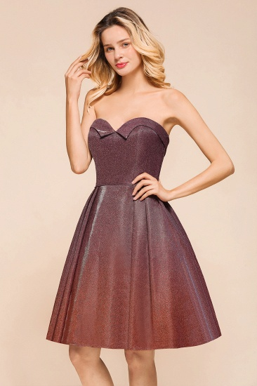 Ombre Sequins Sweetheart Short Prom Dresses Online_8