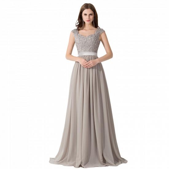 BMbridal A-line V Neck Chiffon Bridesmaid Dress with Appliques_1