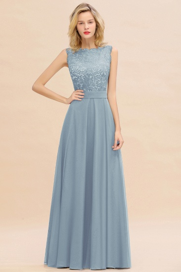 Exquisite Scoop Chiffon Lace Bridesmaid Dresses with V-Back_40
