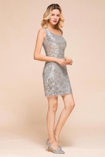Gorgeous One Shoulder Sequins Short Prom Dress Online_7