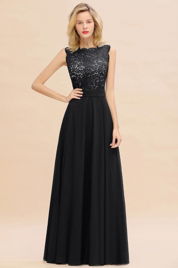 Exquisite Scoop Chiffon Lace Bridesmaid Dresses with V-Back_29