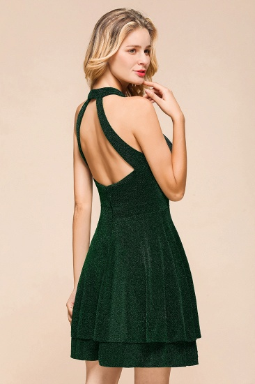 BMbridal Green Shinning Halter Short Prom Dress Mini Party Gowns_10