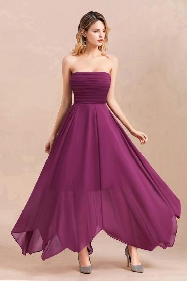 Gorgeous Strapless Ruffle Bridesmaid Dress with Petal Hemline_9