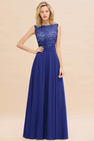 Exquisite Scoop Chiffon Lace Bridesmaid Dresses with V-Back_26