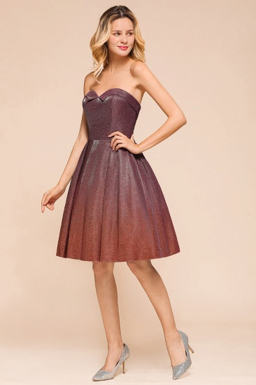 Ombre Sequins Sweetheart Short Prom Dresses Online_7