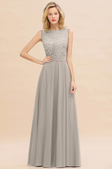 Exquisite Scoop Chiffon Lace Bridesmaid Dresses with V-Back_30