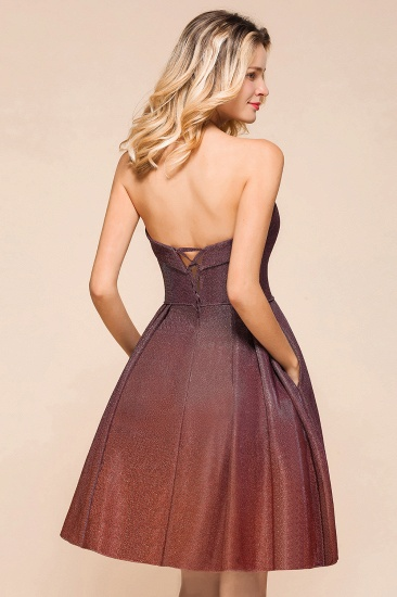 Ombre Sequins Sweetheart Short Prom Dresses Online_9