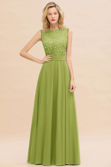 BMbridal Exquisite Scoop Chiffon Lace Bridesmaid Dresses with V-Back_34
