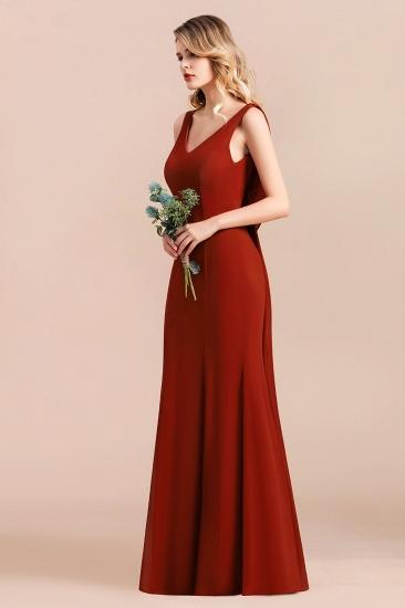 Charming Mermaid V-Neck Drapped Back Bridesmaid Dress Online_7