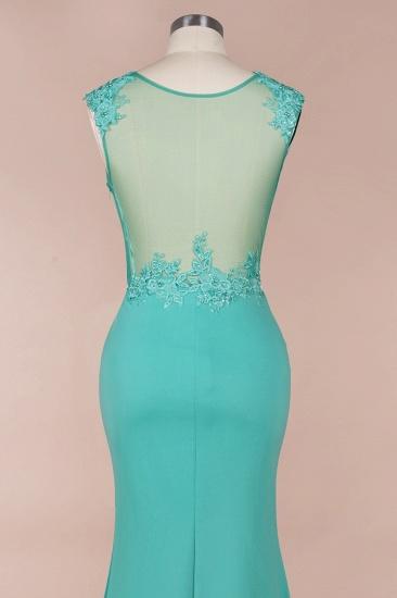 BMbridal Sexy mermaid Jewel Chiffon Lace Prom Dress Jewel Tulle Bridesmaid Dress_8