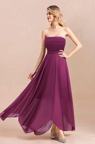 Gorgeous Strapless Ruffle Bridesmaid Dress with Petal Hemline_7