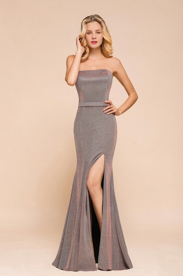 Stunning Strapless Long Prom Dress With Split Online_5