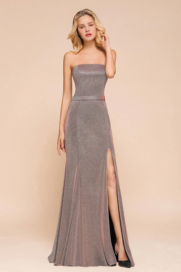 Stunning Strapless Long Prom Dress With Split Online_7