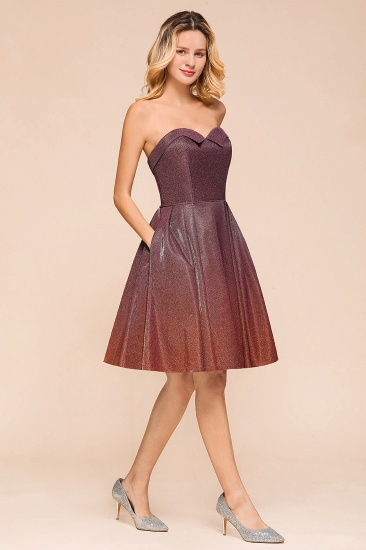 Ombre Sequins Sweetheart Short Prom Dresses Online_5