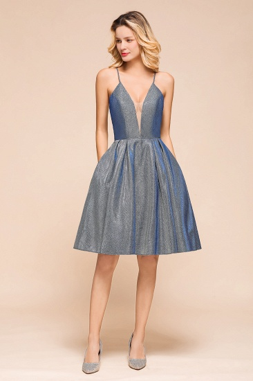 Shinning Halter V-Neck Prom Dress Short Homecoming Dress Online
