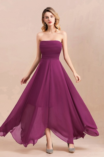Gorgeous Strapless Ruffle Bridesmaid Dress with Petal Hemline