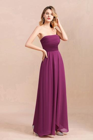 Gorgeous Strapless Ruffle Bridesmaid Dress with Petal Hemline_8