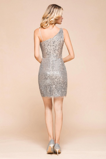 Gorgeous One Shoulder Sequins Short Prom Dress Online_3