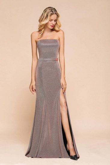 Stunning Strapless Long Prom Dress With Split Online_4