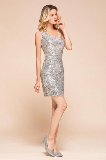 Gorgeous One Shoulder Sequins Short Prom Dress Online_8