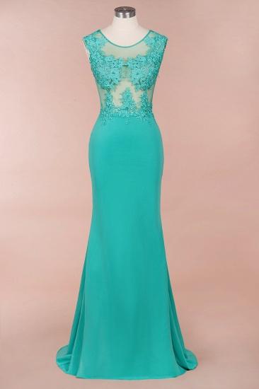 BMbridal Sexy mermaid Jewel Chiffon Lace Prom Dress Jewel Tulle Bridesmaid Dress_2