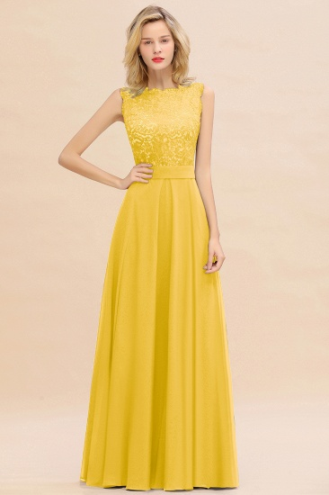 BMbridal Exquisite Scoop Chiffon Lace Bridesmaid Dresses with V-Back_17