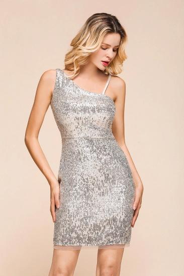Gorgeous One Shoulder Sequins Short Prom Dress Online_6