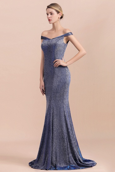 Stunning Off-the-Shoulder Mermaid Prom Dress Long Zipper Back_5