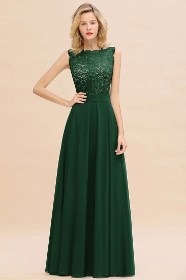 Exquisite Scoop Chiffon Lace Bridesmaid Dresses with V-Back_31