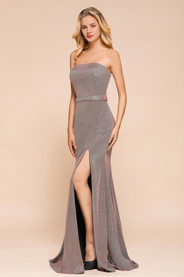 Stunning Strapless Long Prom Dress With Split Online_6