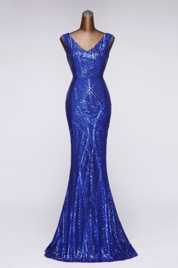Elegant V-Neck Sleeveless Long Mermaid Prom Dresses Online