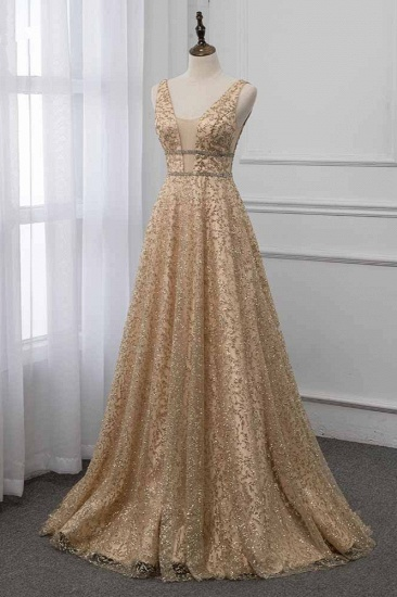 BMbridal Glamorous V-Neck Sleeveless Appliques Prom Dresses with Beadings Online_4