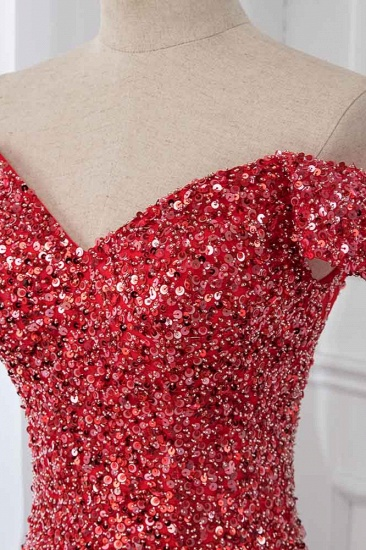 BMbridal Sparkly Off-the-Shoulder Sweetheart Mermaid Prom Dresses with Sequins_5