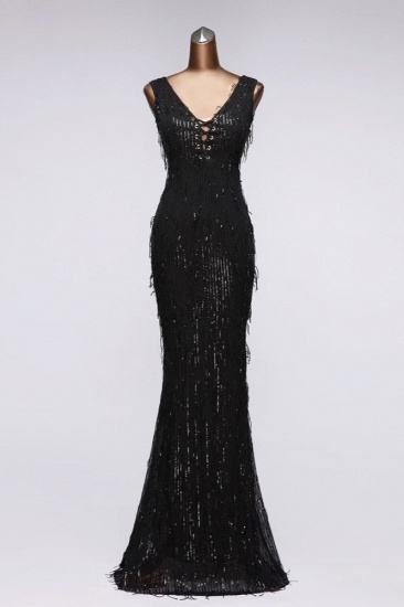 BMbridal Stylish V-Neck Sequined Mermaid Prom Dresses with Strings Online_3