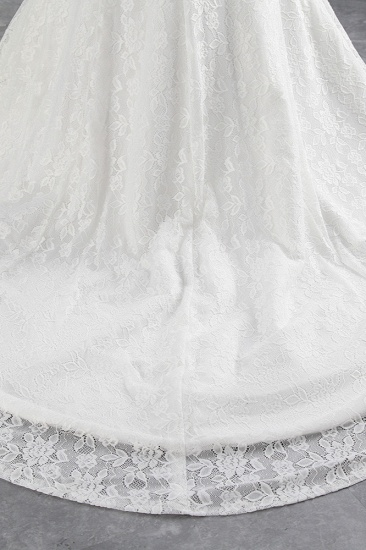 BMbridal Elegant Lace Off-the-Shoulder White Mermaid Wedding Dresses Affordable Online_8