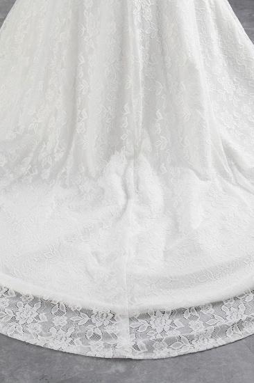 Elegant Lace Off-the-Shoulder White Mermaid Wedding Dresses Cheap Online_8