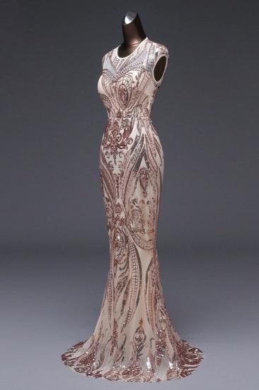 BMbridal Elegant Sequined Jewel Sleeveless Mermaid Prom Dresses with Beadings_7