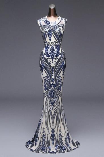 BMbridal Elegant Sequined Jewel Sleeveless Mermaid Prom Dresses with Beadings_2