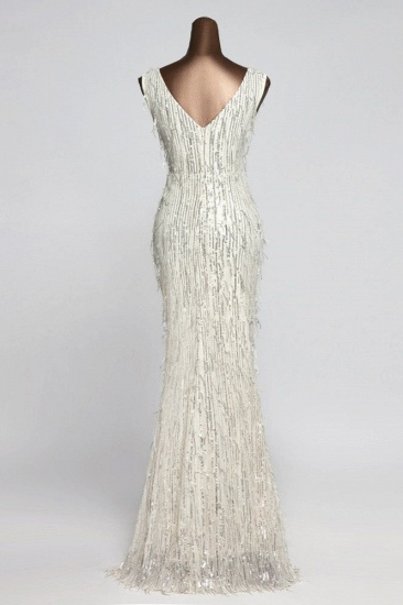 BMbridal Stylish V-Neck Sequined Mermaid Prom Dresses with Strings Online_6