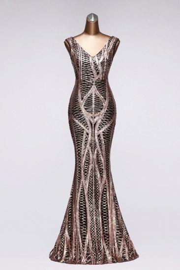 BMbridal Elegant V-Neck Sleeveless Long Mermaid Prom Dresses Online_2