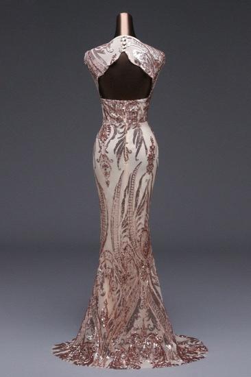 BMbridal Elegant Sequined Jewel Sleeveless Mermaid Prom Dresses with Beadings_6