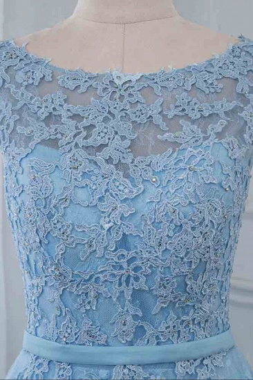 BMbridal Affordable Jewel Sleeveless A-line Prom Dresses with Lace Online_5
