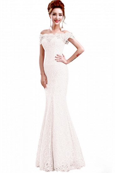 Off-the-Shoulder Lace Mermaid Prom Dress Long Evening Party Gowns Online_13