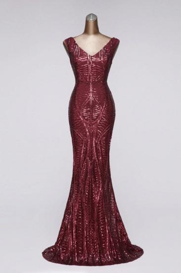 BMbridal Elegant V-Neck Sleeveless Long Mermaid Prom Dresses Online_1