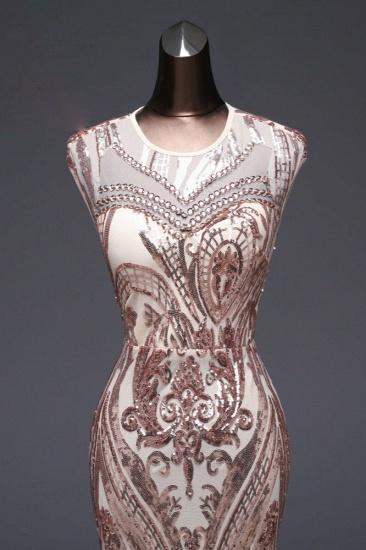 BMbridal Elegant Sequined Jewel Sleeveless Mermaid Prom Dresses with Beadings_9